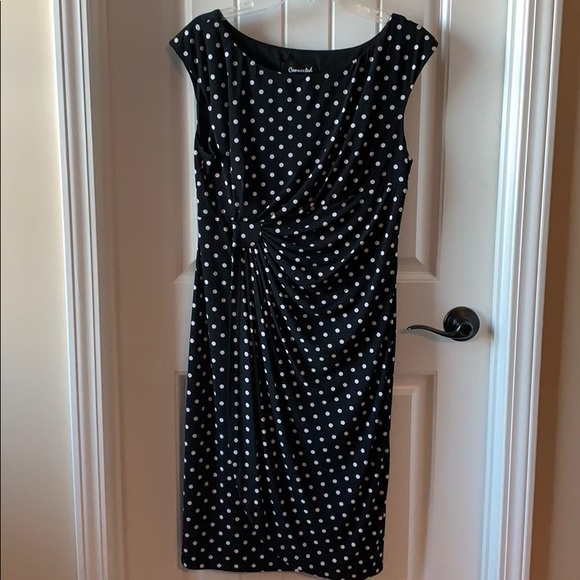 connected apparel Dresses & Skirts - White polka dot dress